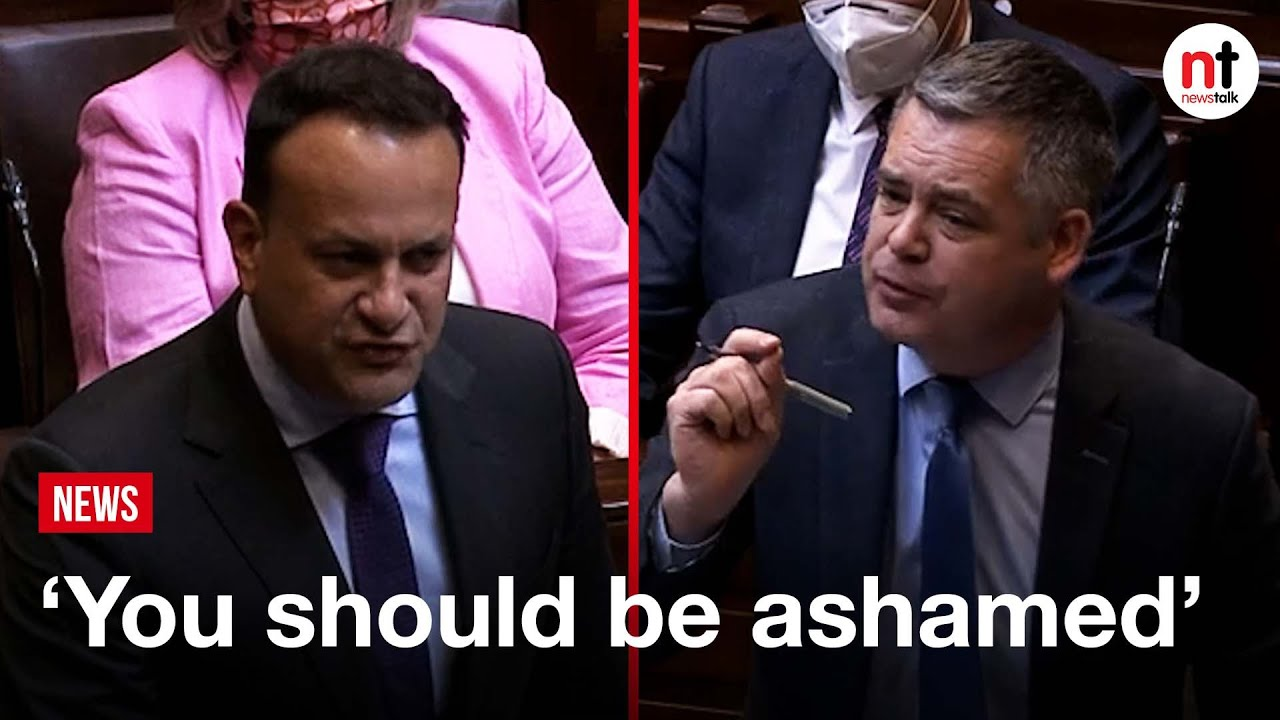 Download 'You should be ashamed' Pearse Doherty and Leo Varadkar clash on housing  in the Dáil