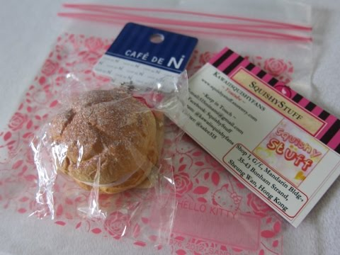 Cafe De N Squishy Package : Cafe De N cream puff tutorial part 2 FunnyCat.TV
