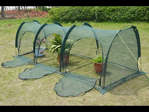 Pop Up Grow Tunnel Net For Garden