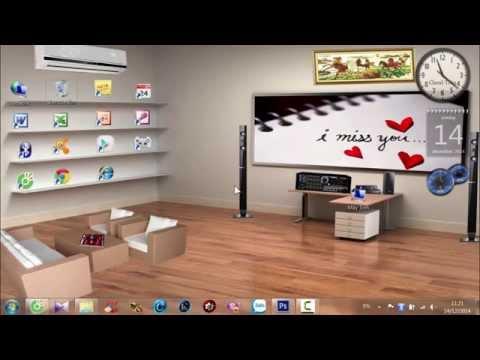 [TKC Production] - Thủ thuật làm hình nền desktop theo giao diện phòng khách