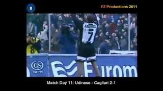 Italian Serie A Top Scorers: 1998-1999 Marcio Amoroso (Udinese) 22 goals
