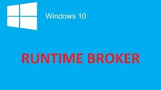 How to fix  Runtime Broker CPU Usage
