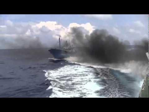 Chinese Spy Ship attacks Japan Coast Guard 5