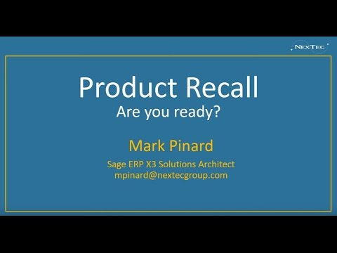 Product Recall, Are You Prepared? - Webinar Replay