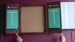 New Dartboard Cabinet Walnut Finish