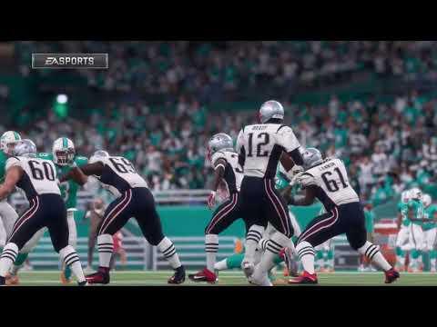 NFL Monday Night Football 12/11 - New England Patriots vs Miami Dolphins - Full NFL Game (Madden 18)