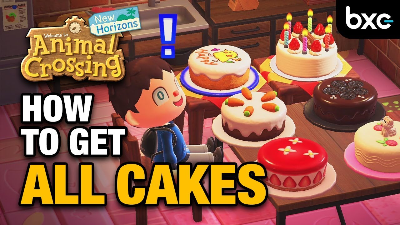 How To Get All Birthday Cakes In Animal Crossing New Horizons Youtube