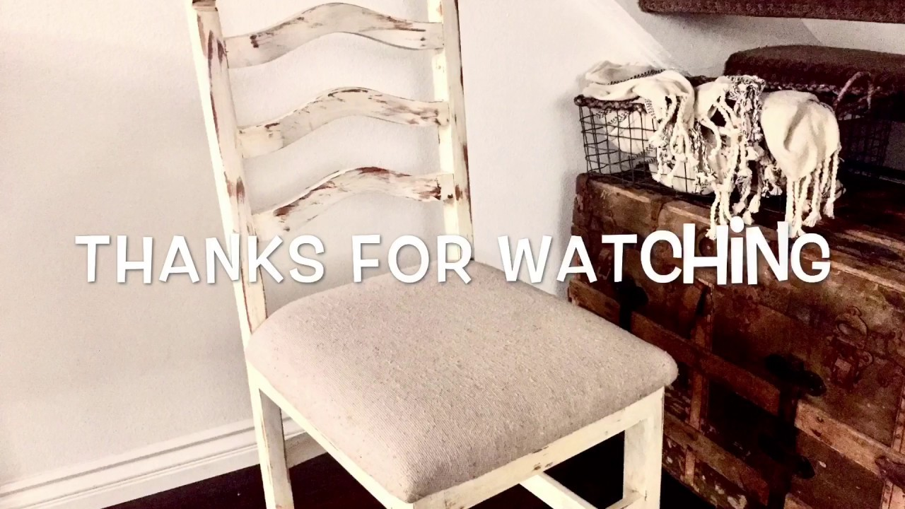How to distress white wash wood furniture chairs tutorial  YouTube
