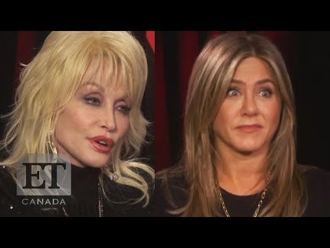 Jennifer Aniston Reacts To Dolly Parton's Husband's Offer