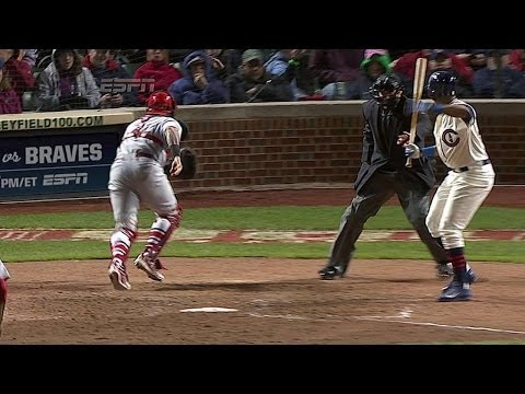 Cubs score tying run on wild pitch in 7th