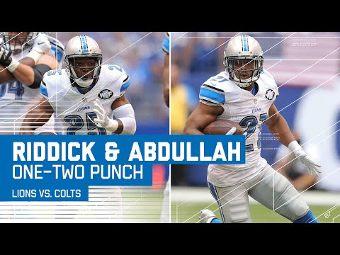 Lions RBs Riddick & Abdullah Run All Over Colts | Lions vs. Colts | NFL
