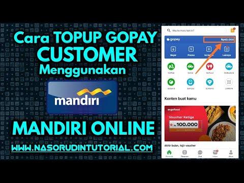 Cara Topup Gopay Customer Menggunakan Mandiri Online Gopay Mandirionline Topup Mobilebangking Youtube