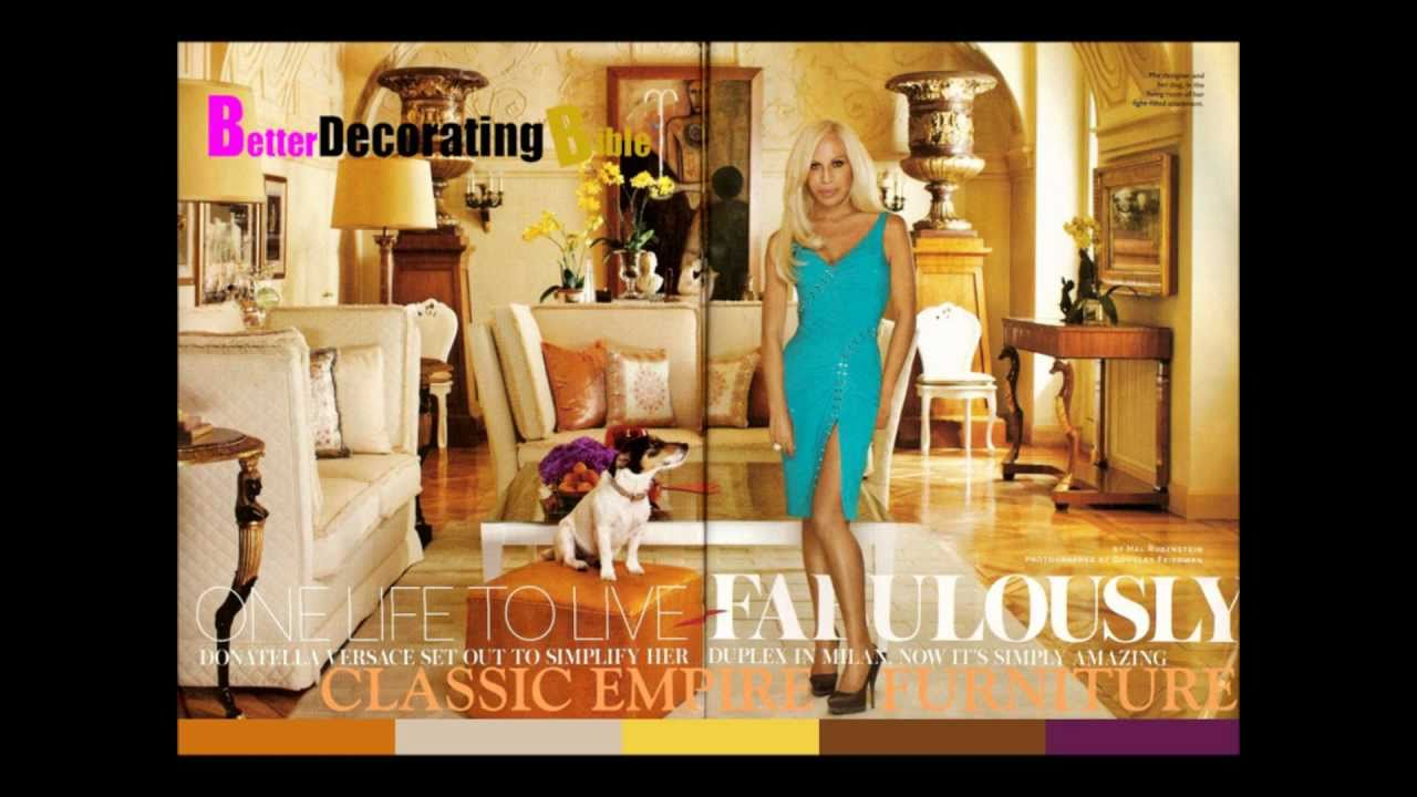 Redecorate Living Room Ideas Blue Sofa Celebrity Homes Donatella Versace - Youtube