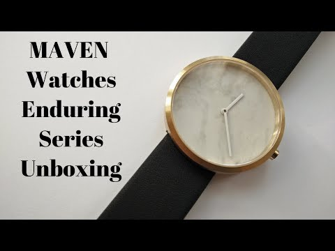 MAVEN Watches Genuine Marble Dial Enduring Series!