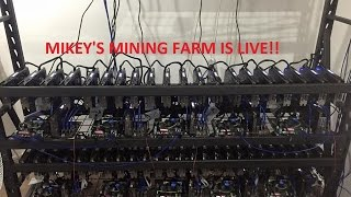 Ethereum Mining Farm Live - Part 3 Running