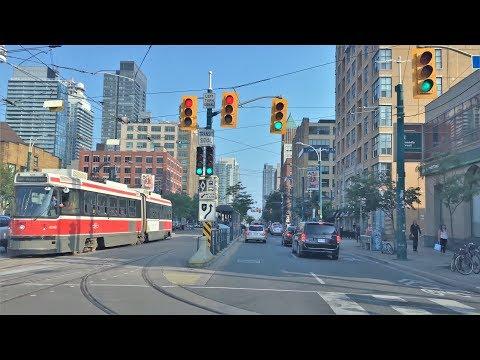 Driving Downtown - Toronto Skyline 4K - Canada