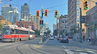 Driving Downtown - Toronto Skyline 4K - Canada