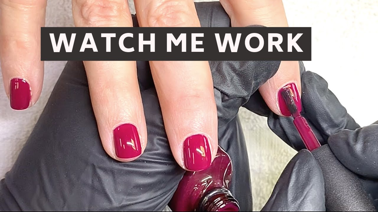 Full Service Gelpolish Manicure Video On A Real Client Feat Cnd Shellac Tinted Love