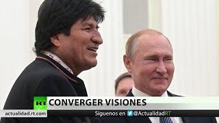 Putin y Morales denuncian intentos de derrocar gobiernos soberanos