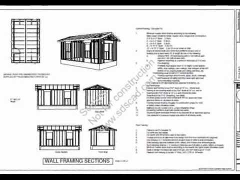 g441 12 x 20 x 8 garage plan youtube. Black Bedroom Furniture Sets. Home Design Ideas