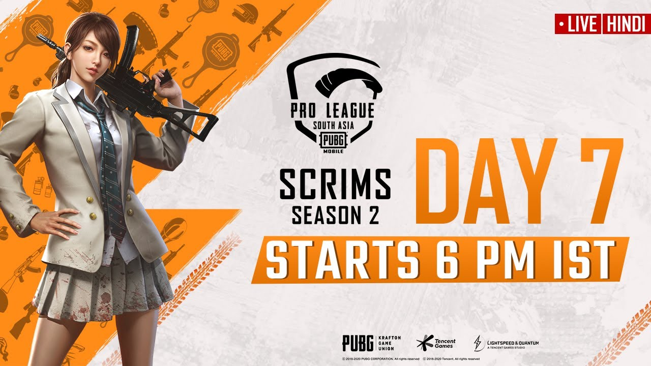 [Hindi] PMPL South Asia Scrims S2 Day 7 | PUBG MOBILE Pro League