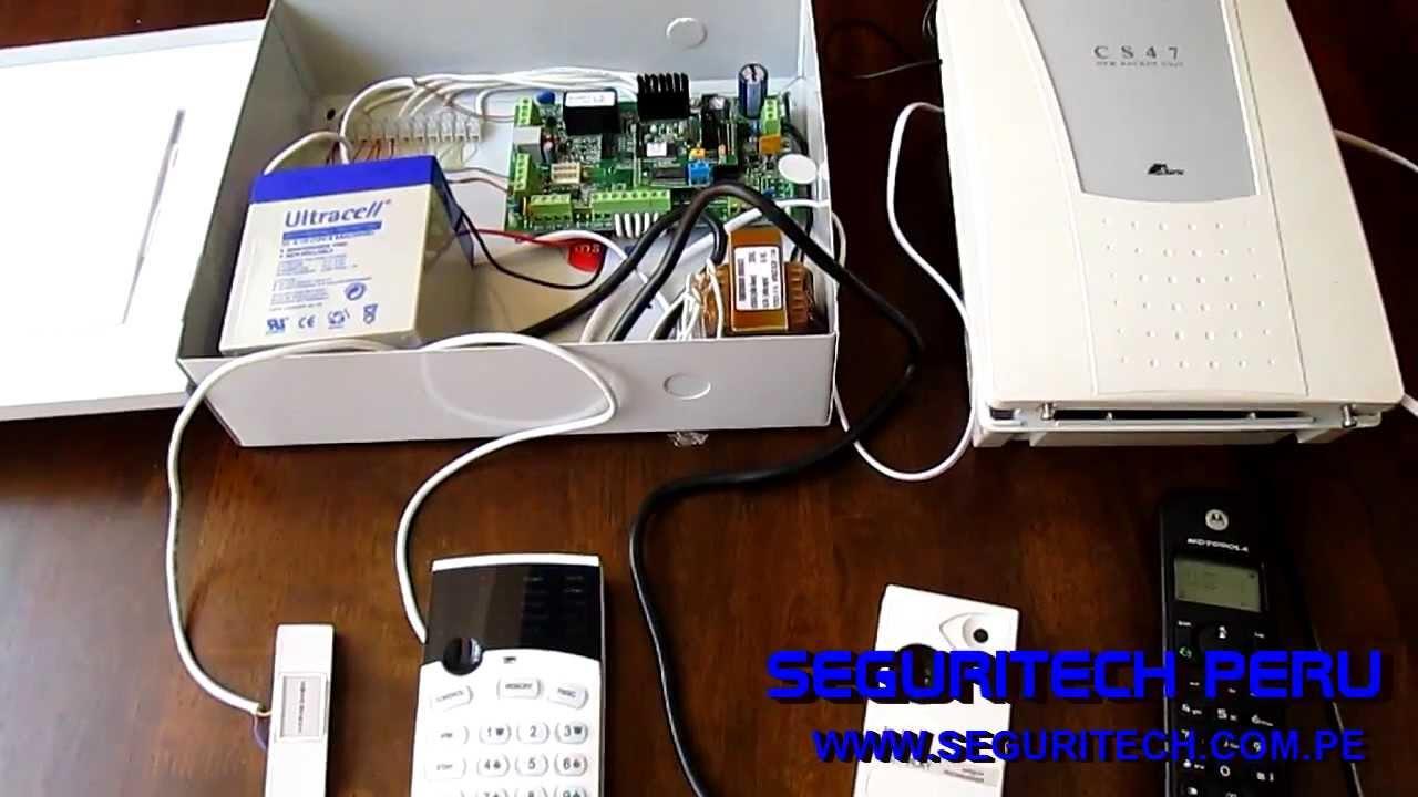 Alarma domiciliaria con modulo de linea celular seguritech peru youtube - Poner linea telefonica en casa ...