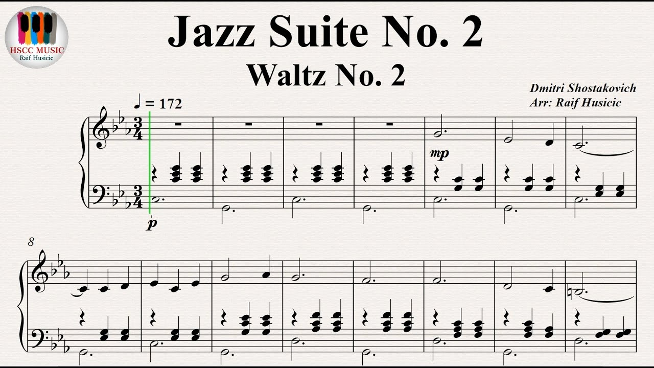 SHOSTAKOVICH WALTZ 2 JAZZ SUITE 2 Piano
