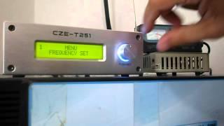 transmissor fm pll cze t251 25w
