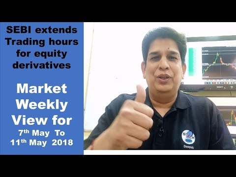 Market Weekly View for  7 May To 11 May 2018 ; SEBI extends Trading Hours for derivatives
