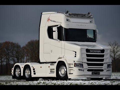 2018 New Scania T-580 V8 Power 6x2 White Edition Next Generation Poulsenbiler