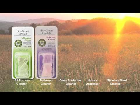 Bio+Green Crystals - Zero Waste, Green Cleaning Products