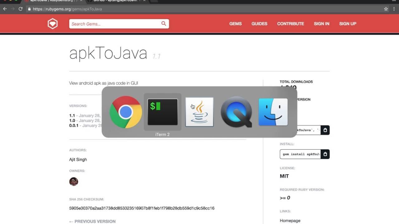 apkToJava - Gem to convert apk file to java code - Ajit Singh