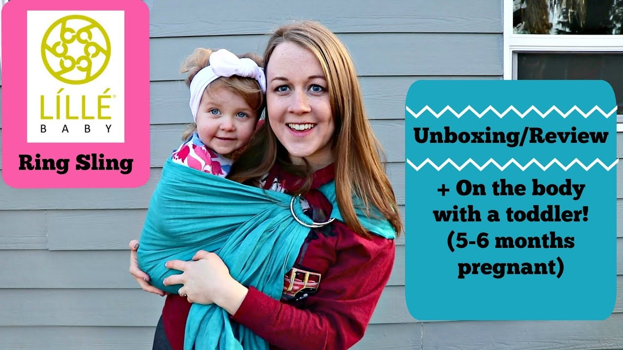 749a5532701 Lillebaby Ring Sling (Wearing a toddler while pregnant) - YouTube