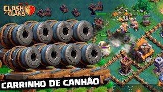 CASA DO CONSTRUTOR #17: ATAQUEI COM O CARRINHO DE CANHÃO NO CLASH OF CLANS