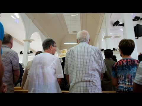 Cook Islands church service