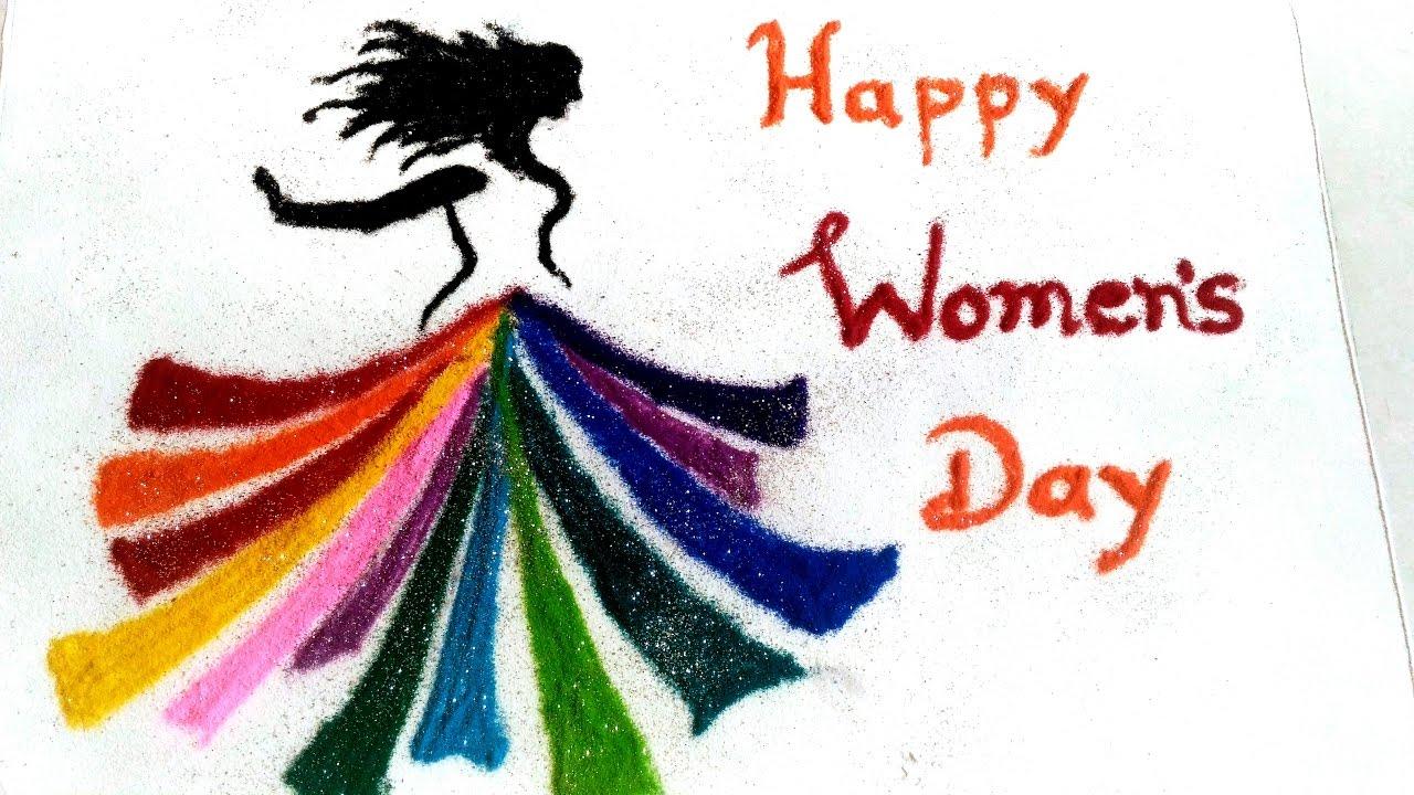 Rangoli Kolam Designs For Women S Day