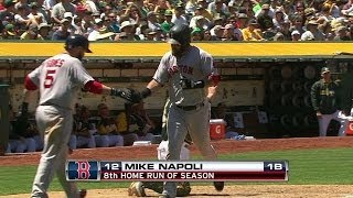 BOS@OAK: Napoli launches a solo homer to right-center