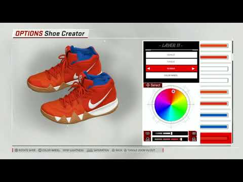 save off 9faf9 e7f59 size 40 27703 54801 nba 2k19 shoe creator nike kyrie 4 kix ...