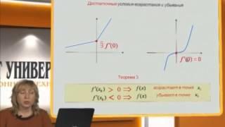 Лекция 14: Признаки возрастания и убывания функции. Экстремум функции