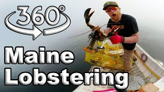 360 Maine Lobstering Adventure Day 5.5 of 8 Side Adventure Of Maine W.L.C. /Catch And Cook Survival