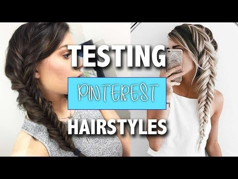 Trying Pinterest Hairstyles     Episode 1