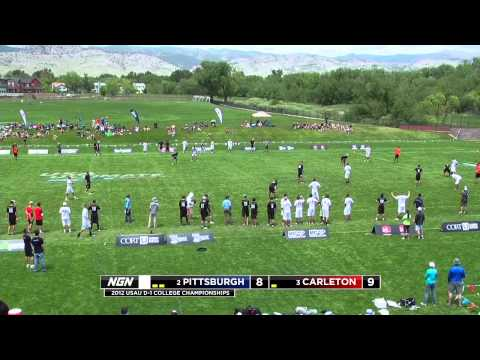 Pittsburgh v. Carleton College (2012 College Championships - Open Semifinal)
