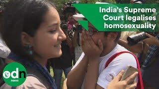 India's Supreme Court decriminalises homosexual sex