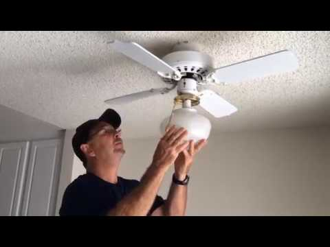 How To Change The Bulb In The Ceiling Fan Youtube