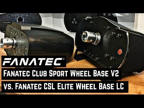 FANATEC CSL Elite Wheel Base vs. FANATEC Clubsport Wheel Base V2 [deutsch|german|english CC]