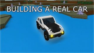 building a big working car | ROBLOX Build A Boat For Treasure