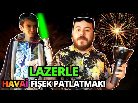 LAZERLE HAVAİ FİŞEK PATLATMAK ! /w Mendebur Lemur