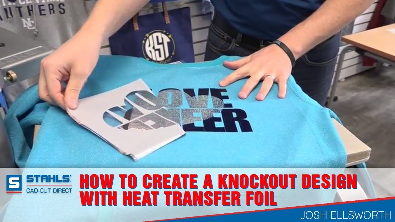 e7e52839 How to Create A Knockout Design with Heat Transfer Foil - YouTube