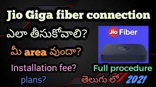 How to register JIO GIGA FIBER connection || Full procedure and details || 2021 | Telugu