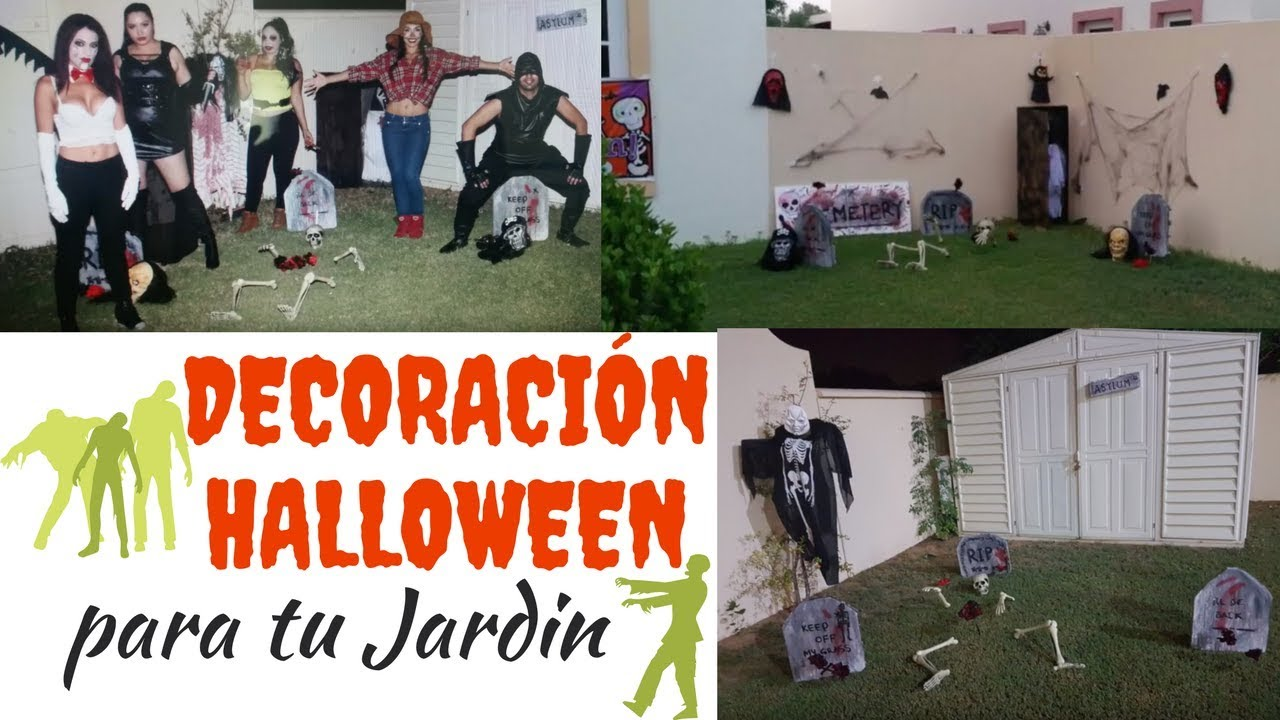 Ideas de decoracion de halloween para jardines y patios fiesta ymc youtube - Ideas decoracion halloween fiesta ...